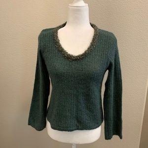 Emporio Armani Green Crew Neck Sweater